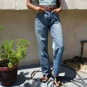BDG High Rise Baggy Bleached Jeans